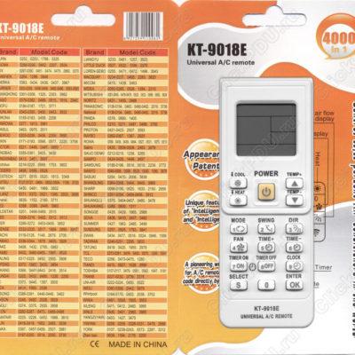 Пульт для кондиционера универсальный QUNDA KT-9018E