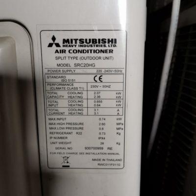 Mitsubishi Heavy SRK20HG
